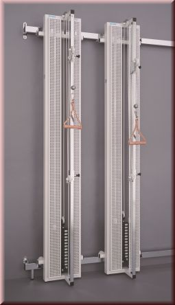 zugapparat spezial wand verschiebbar mit 2 st ck seilz gen. Black Bedroom Furniture Sets. Home Design Ideas